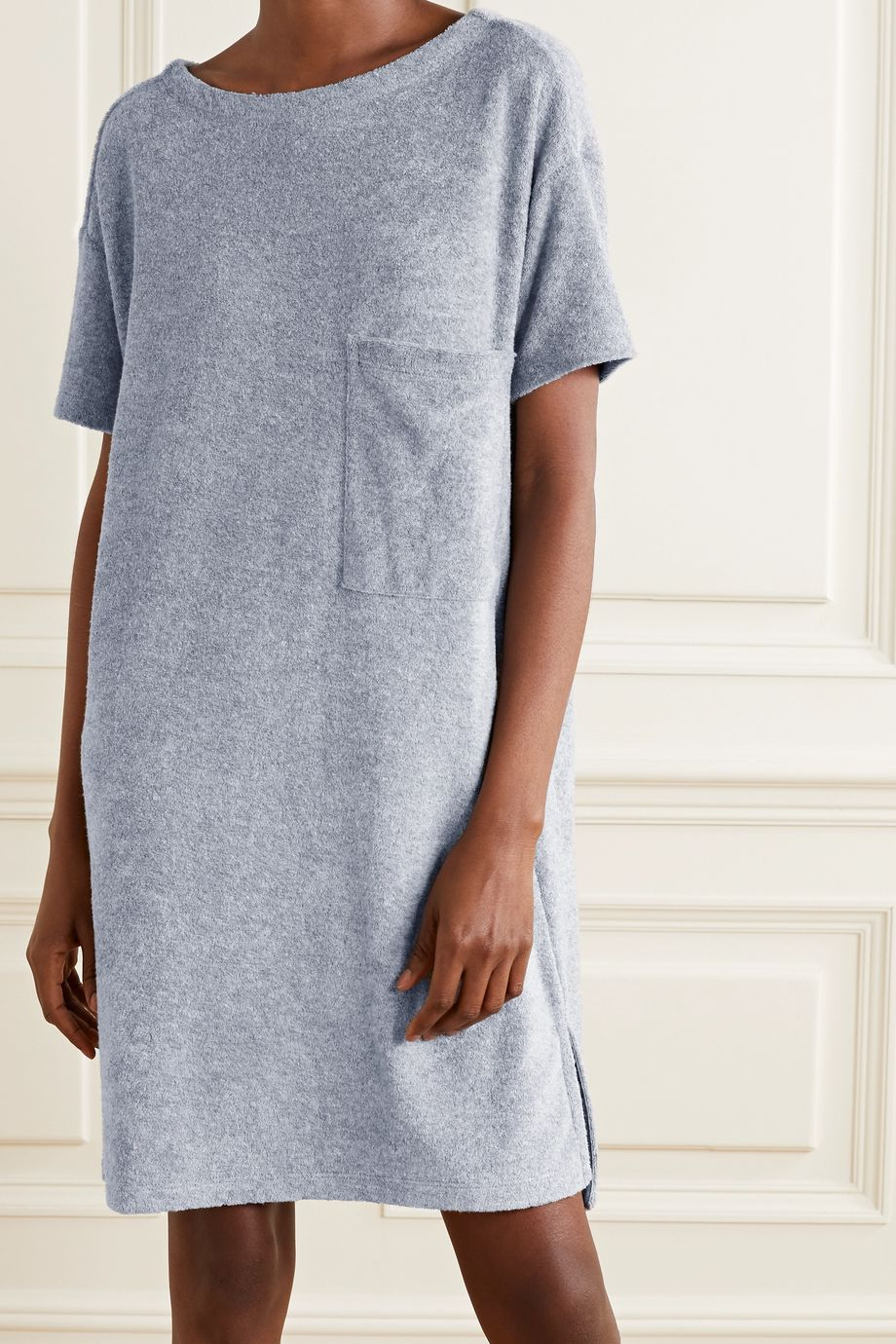 Skin Yael cotton-blend terry nightdress
