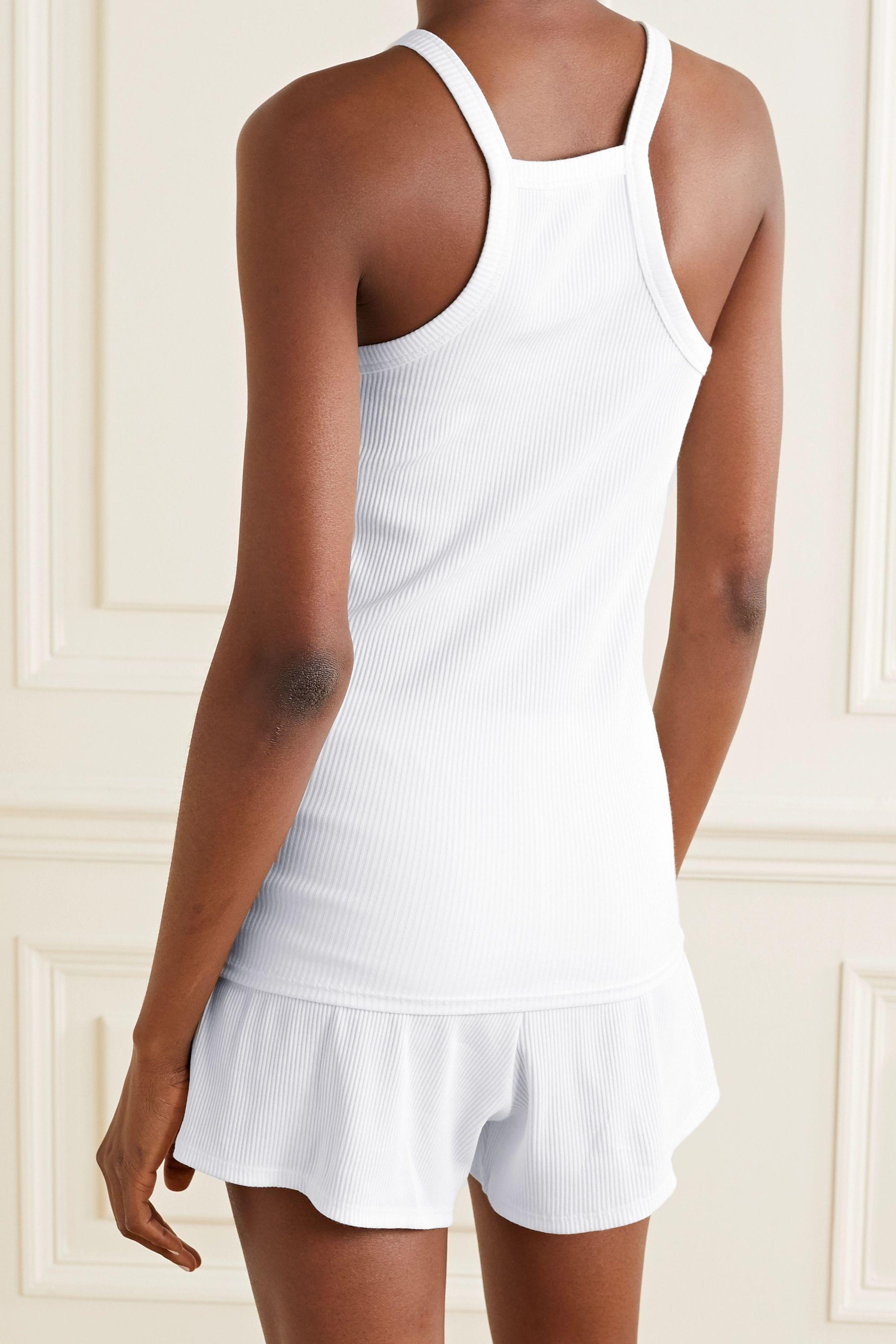 Skin Imogen ribbed stretch-Pima cotton jersey tank