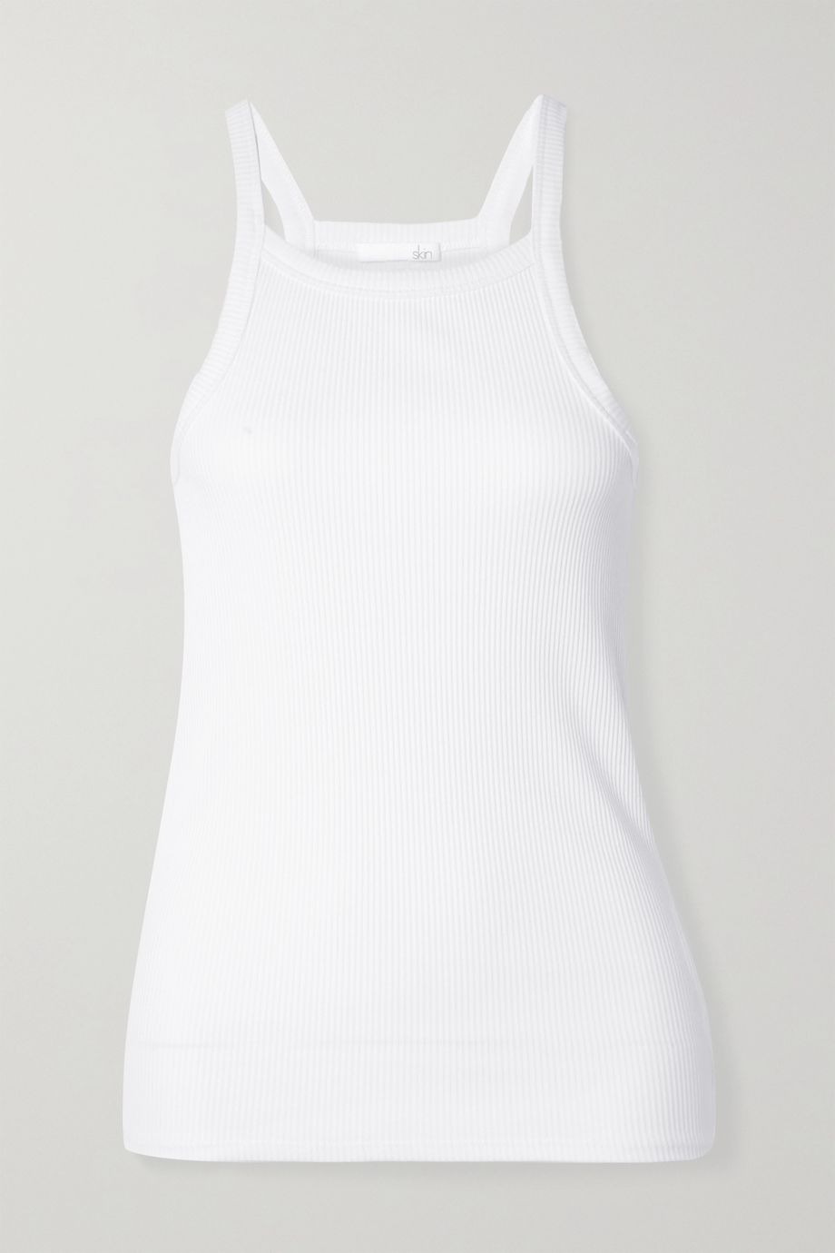 Skin Imogen ribbed stretch-Pima cotton jersey tank