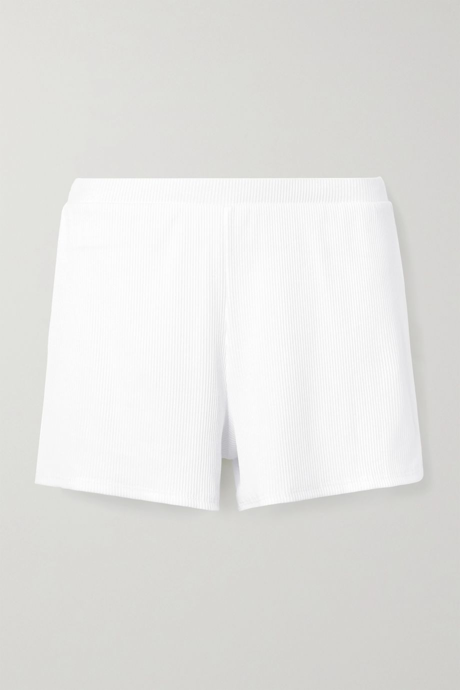 Skin Indigo ribbed stretch-Pima cotton jersey shorts