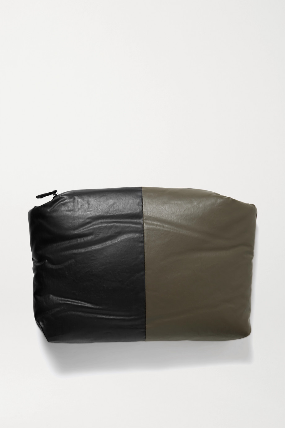 Kassl Editions Padded two-tone coated cotton-blend clutch