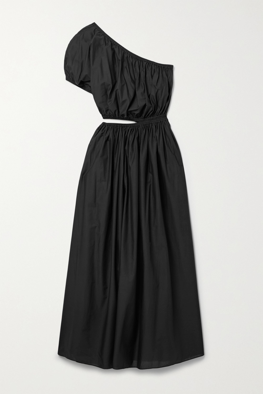 Matteau + NET SUSTAIN One-shoulder cutout cotton-poplin maxi dress
