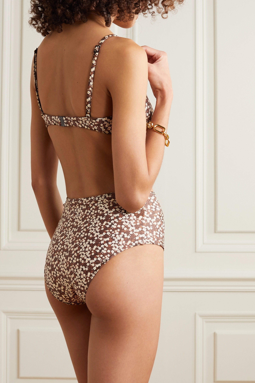 Matteau + NET SUSTAIN Triangel-Bikini-Oberteil aus Stretch-ECONYL® mit Blumenprint