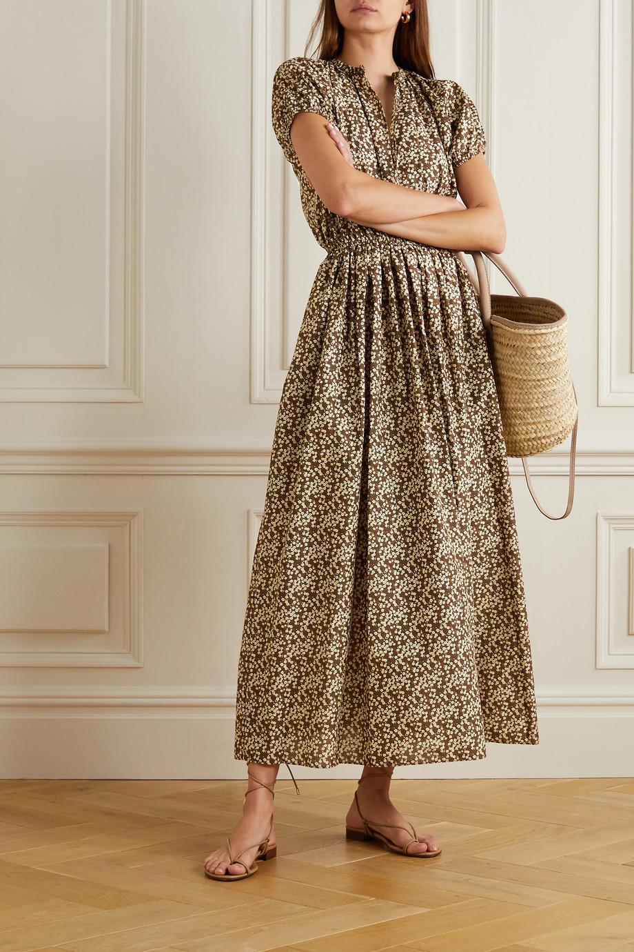 Matteau + NET SUSTAIN Cocoon Maxikleid aus Baumwolle mit Blumenprint