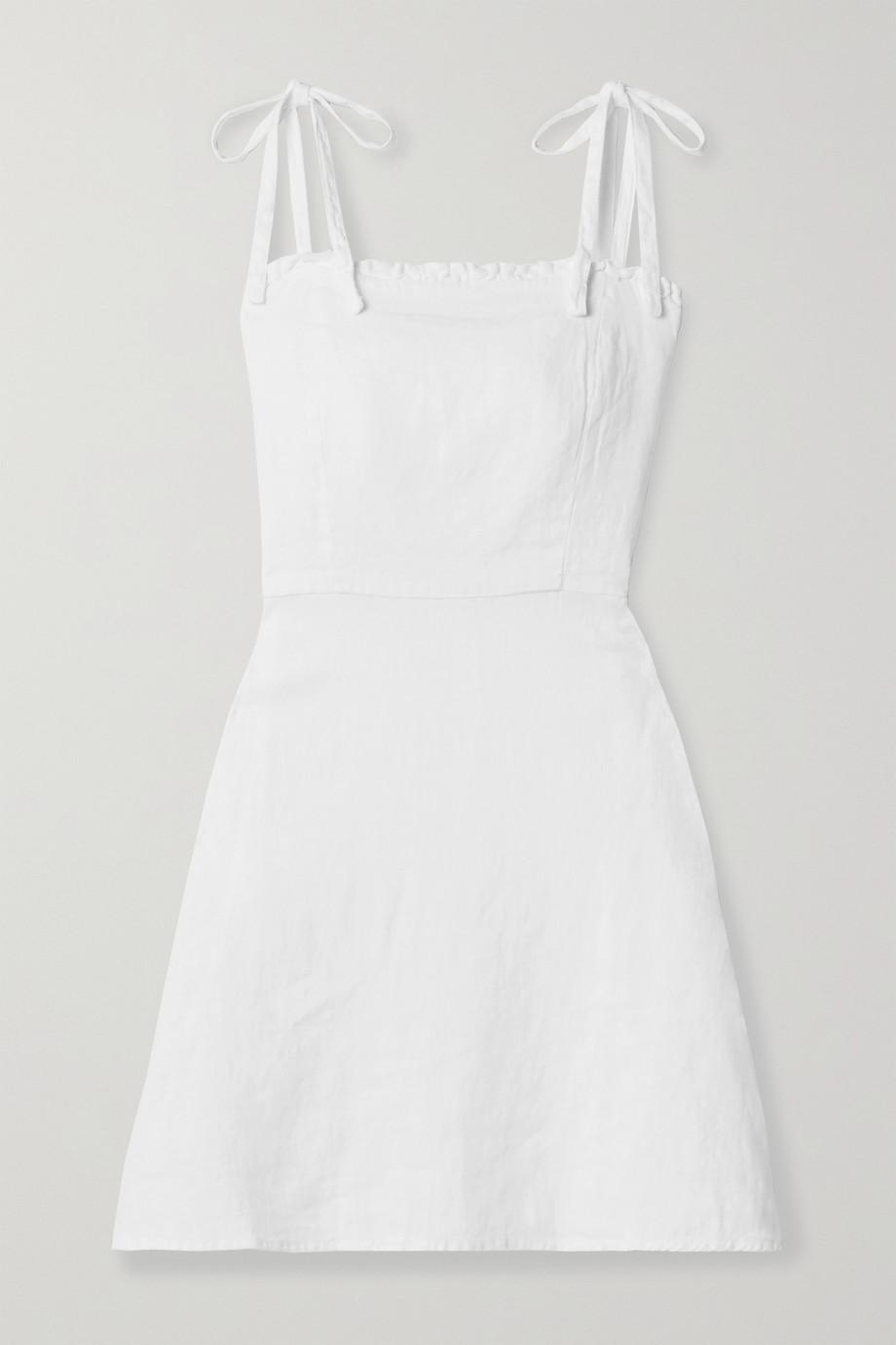 Honorine Mini-robe en lin à volants Poppy