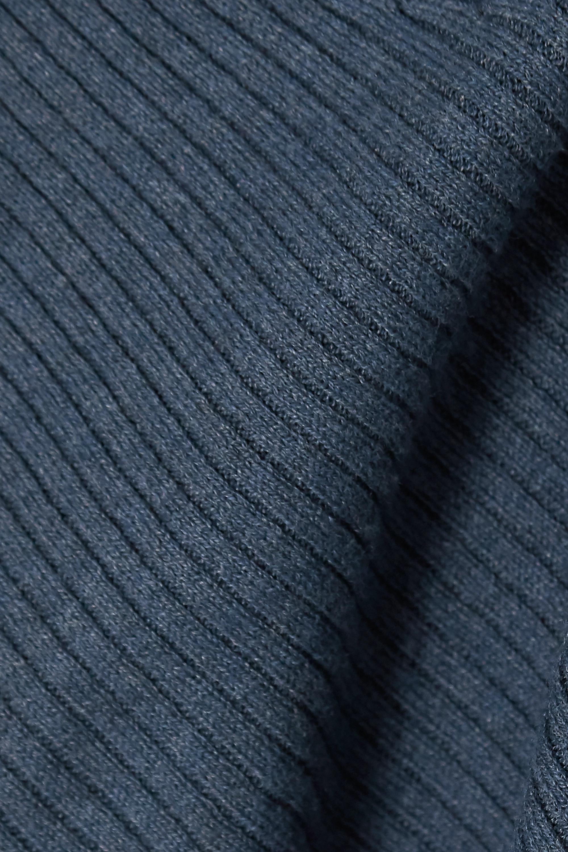 Skin Kylee 罗纹棉质混纺裹身开襟衫