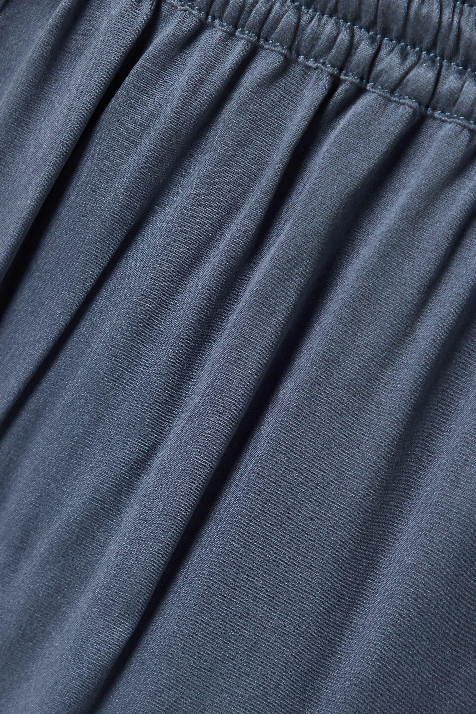 Skin Tamara washed silk-blend satin track pants