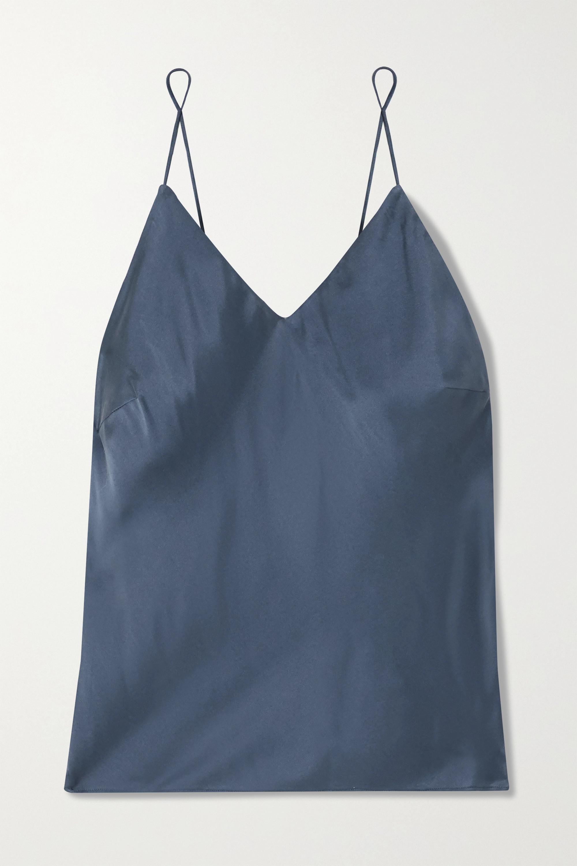 Skin Tali washed silk-blend satin camisole