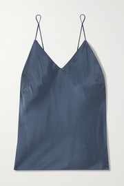 Skin Tali washed silk-blend satin camisole