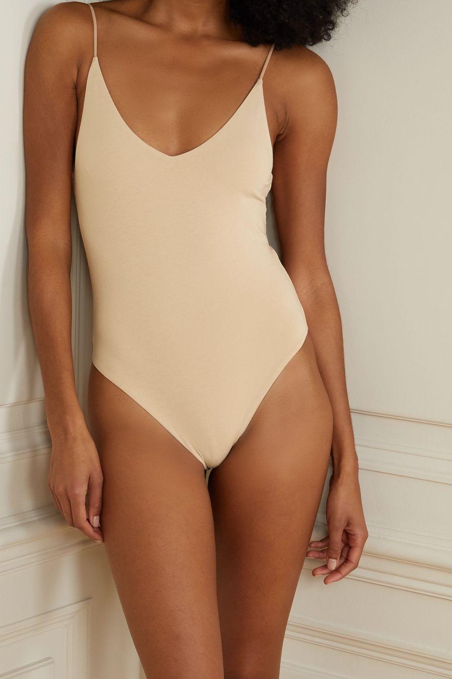 Skin + NET SUSTAIN Narcissa stretch organic Pima cotton-jersey bodysuit
