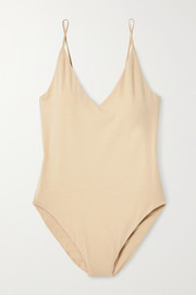 Skin + NET SUSTAIN Narcissa stretch organic Pima cotton-jersey bodysuit