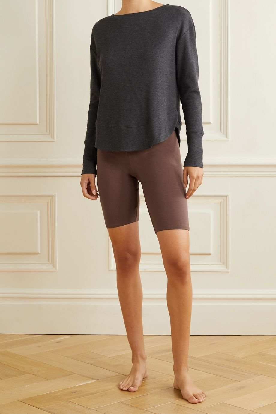 Skin Aphrodite stretch organic Pima cotton-jersey shorts