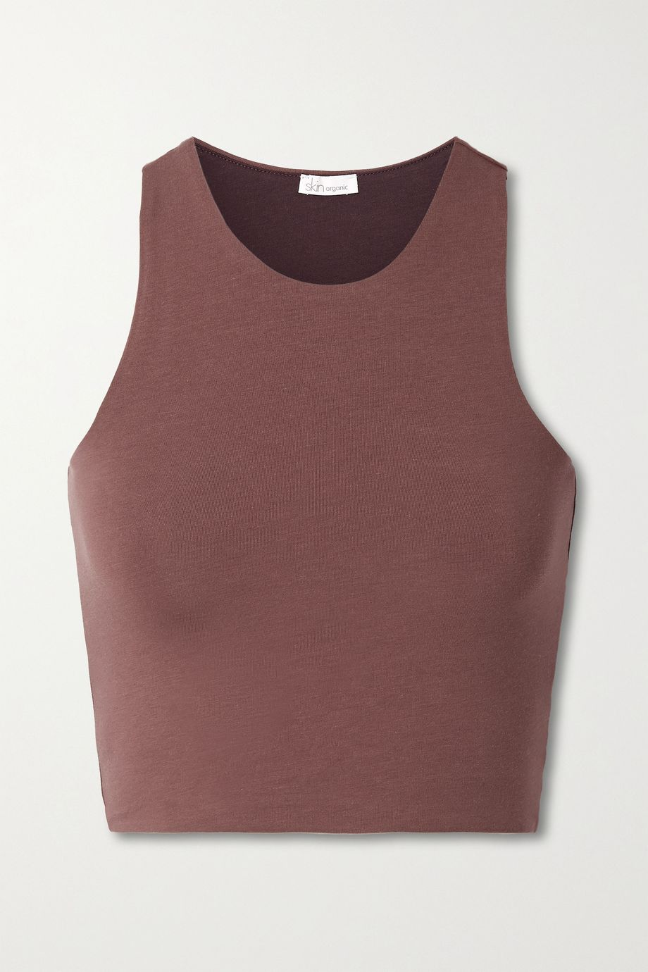 Skin + NET SUSTAIN Calliope reversible cropped organic Pima cotton-blend jersey tank