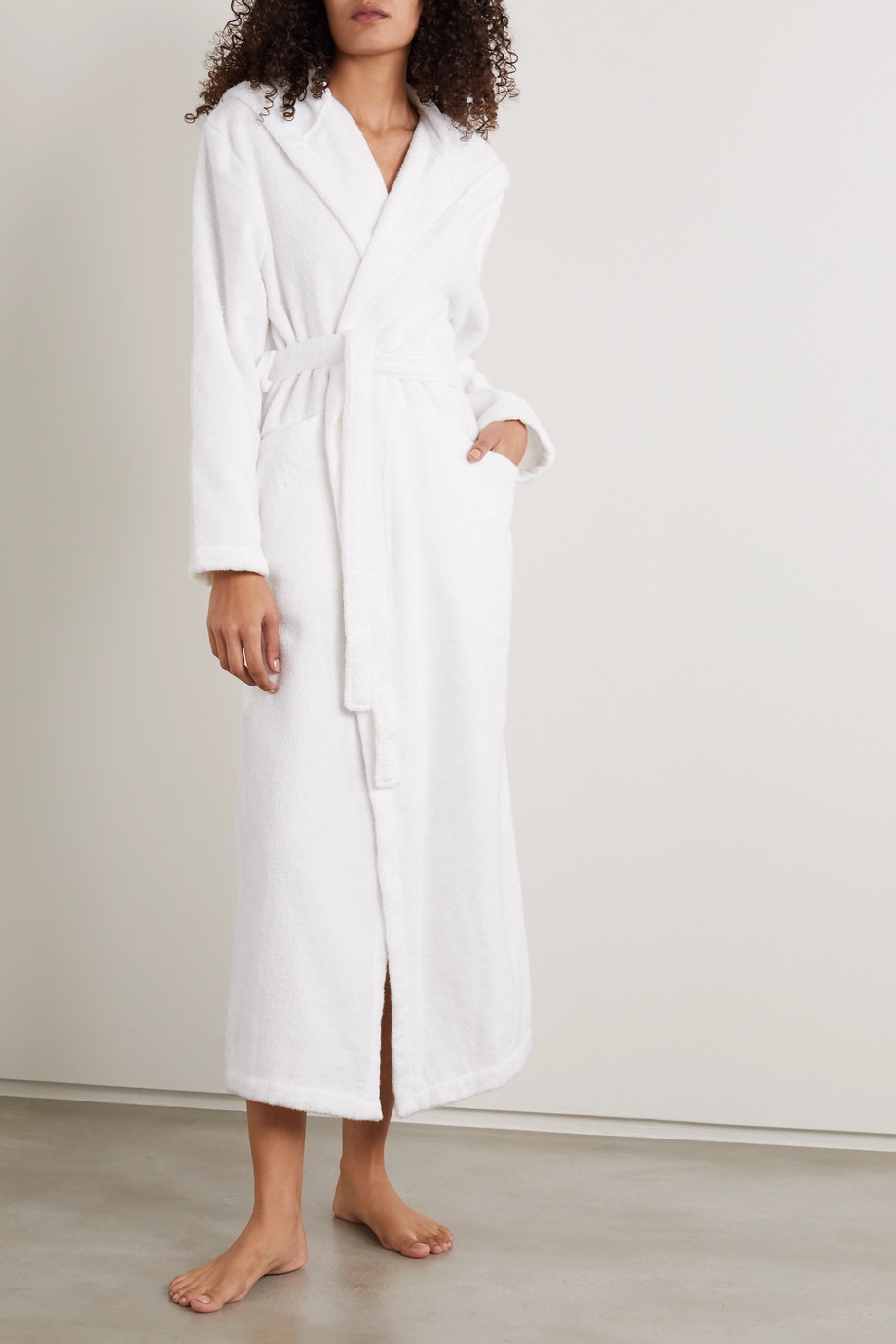 Skin Hamam belted cotton-terry robe