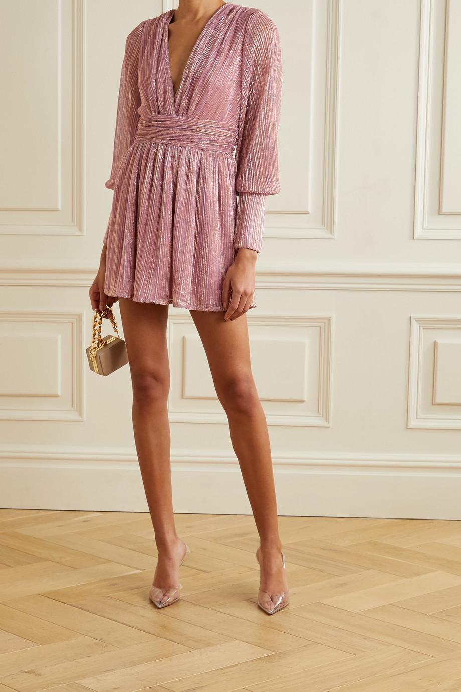 Retrofête Mini-robe en Lurex Dani