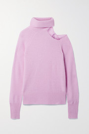 Skin Phoebe cutout cashmere turtleneck sweater