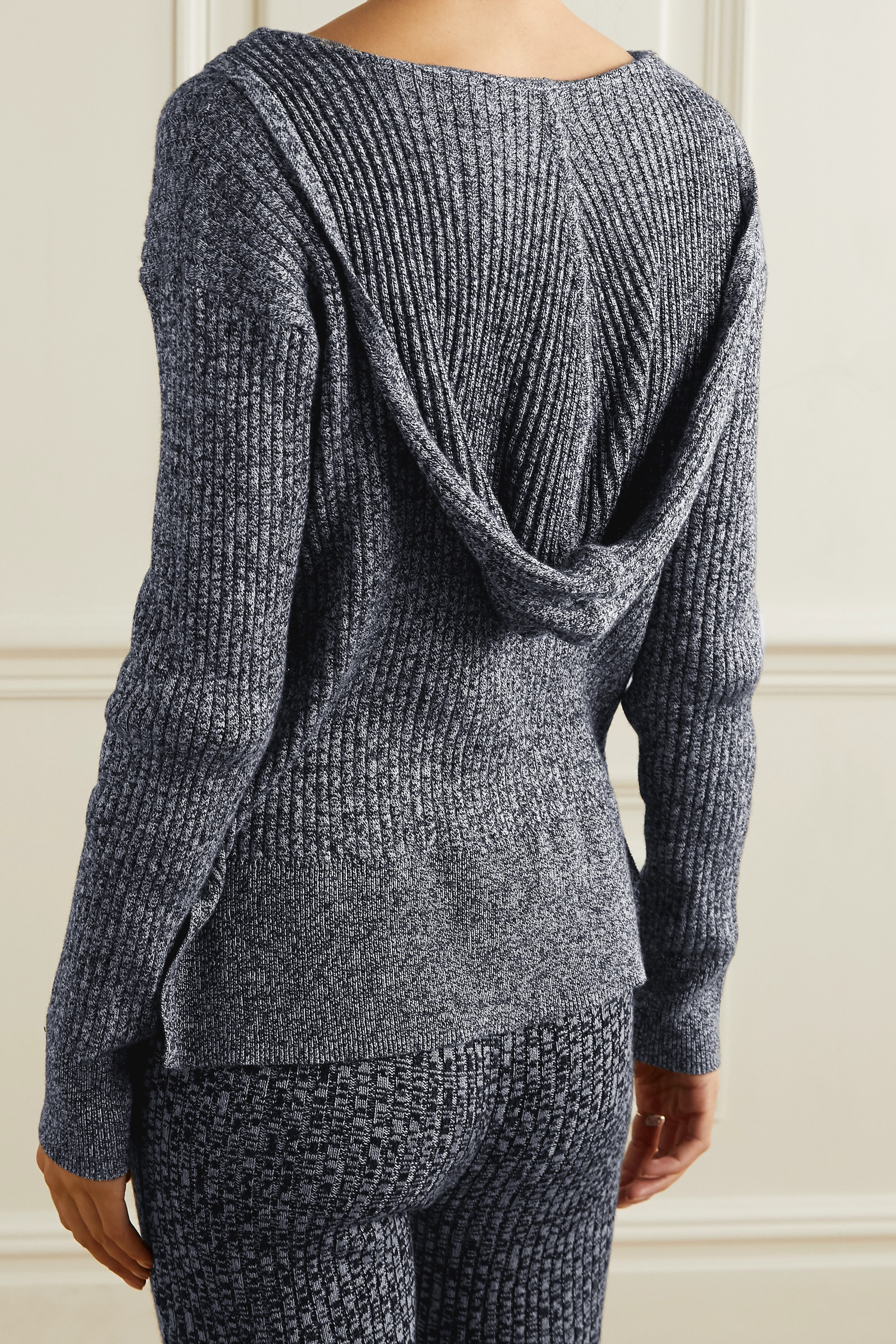 Skin Madeira hooded ribbed cotton and cashmere-blend sweater
