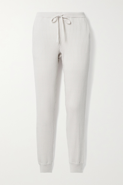 Skin Maizie 罗纹棉质羊绒混纺休闲裤