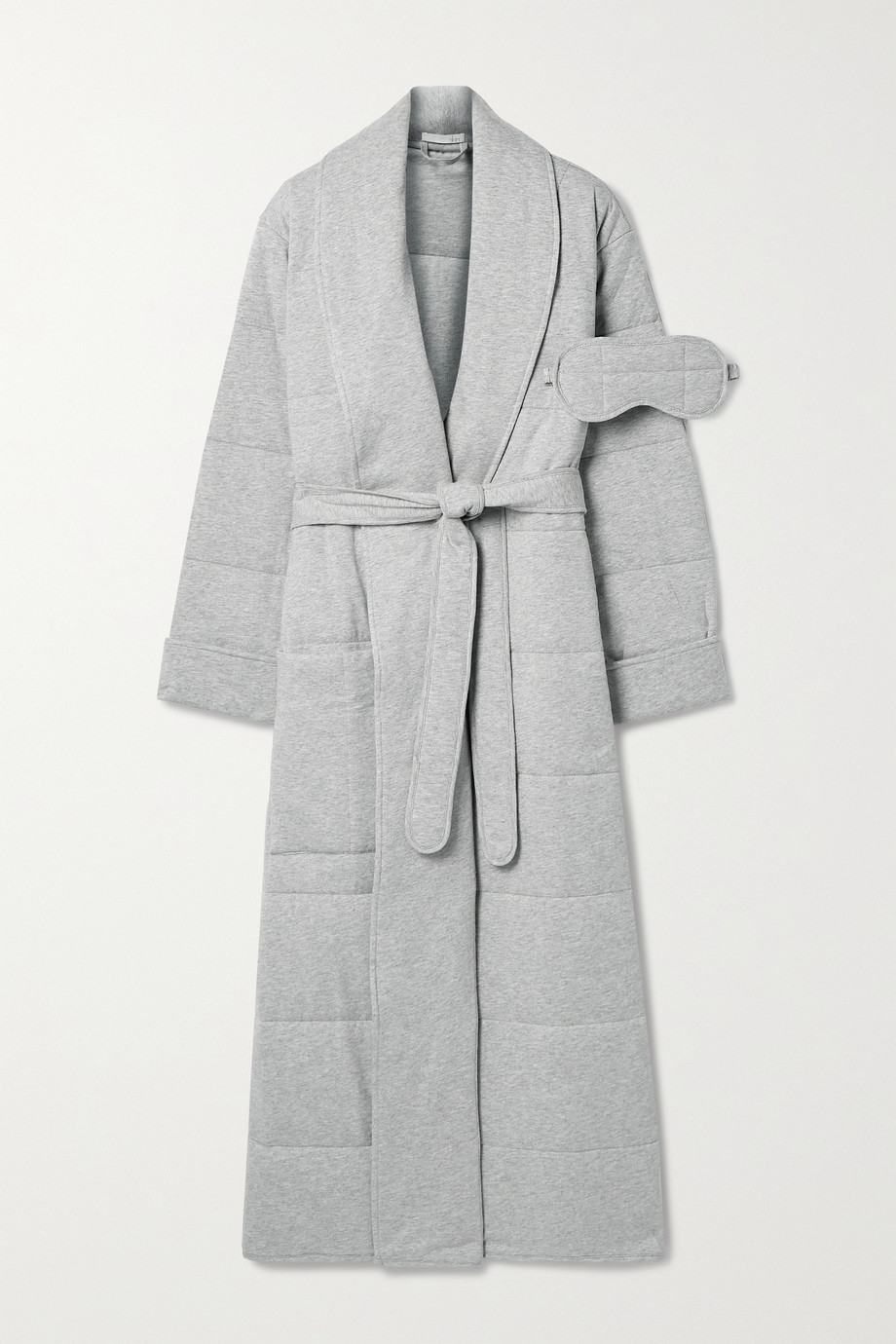 Skin Sierra quilted cotton-jersey robe and eye mask set