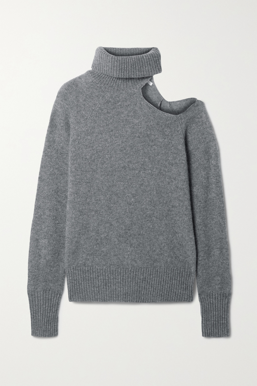 Skin Phoebe 挖剪羊绒高领毛衣