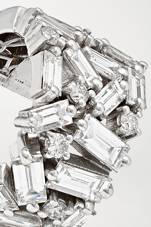 Suzanne Kalan Creolen aus 18Karat Weißgold mit Diamanten