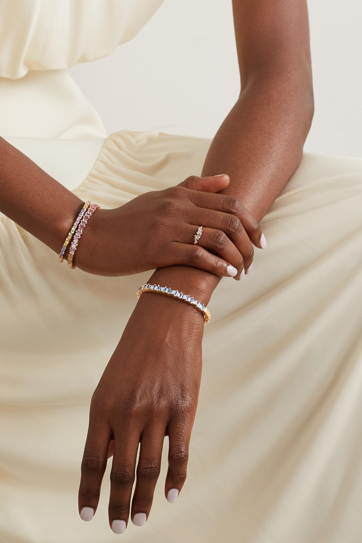 Suzanne Kalan Armspange aus 18 Karat Roségold mit Saphiren und Diamanten