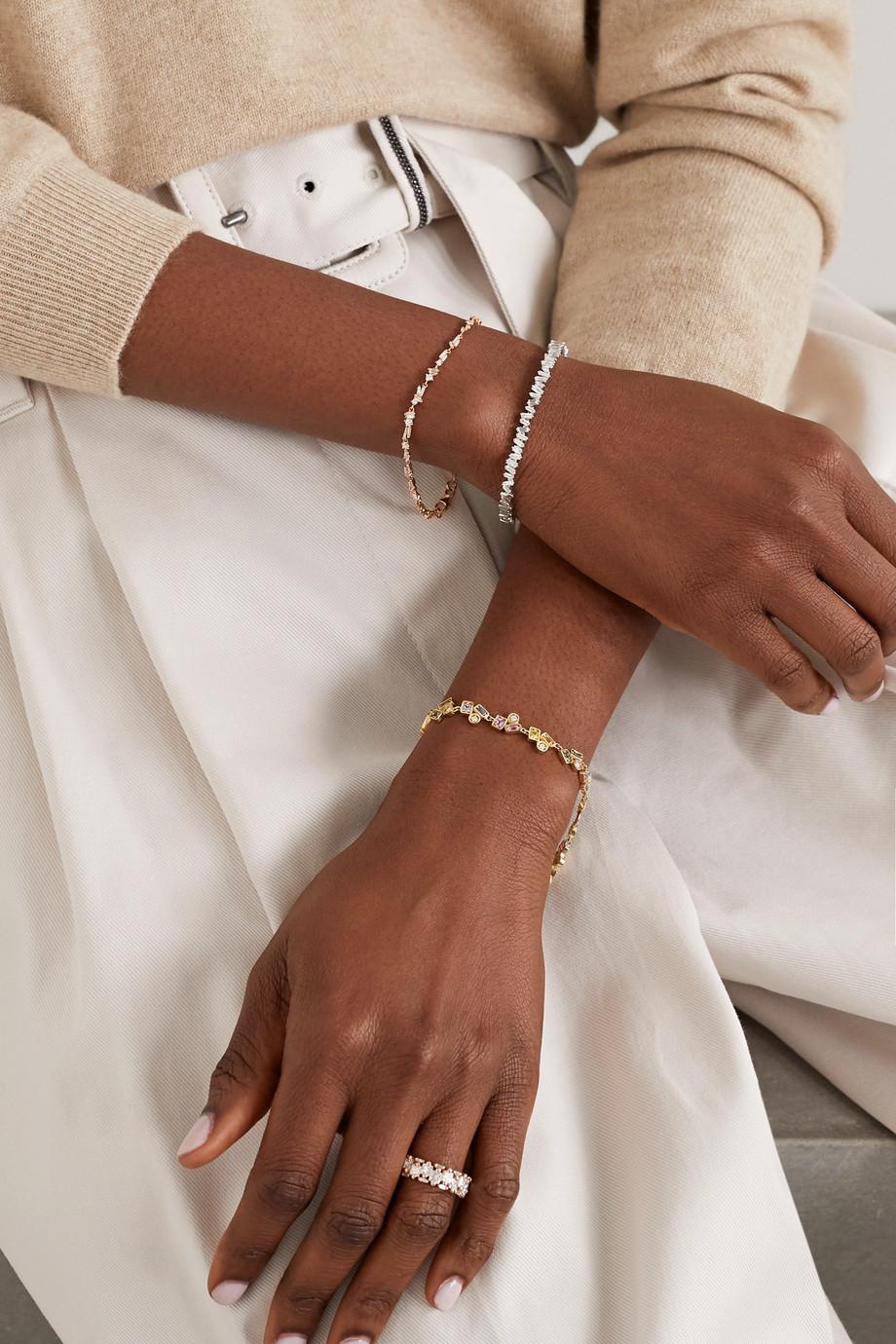 Suzanne Kalan 18-karat gold, diamond and sapphire bracelet
