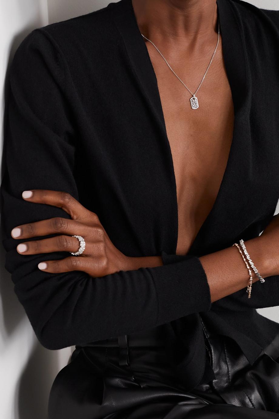 Suzanne Kalan Kette aus 18 Karat Weißgold mit Diamanten