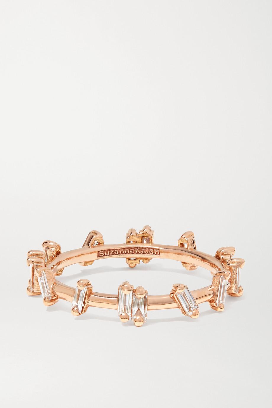Suzanne Kalan Bague en or rose 18 carats et diamants