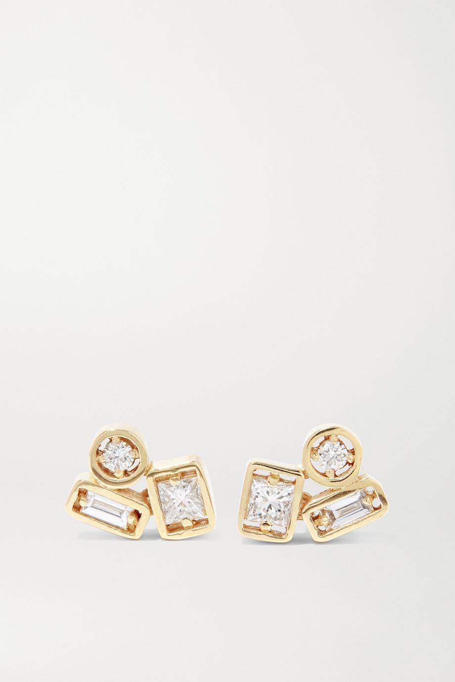 Suzanne Kalan Ohrringe aus 18Karat Gold mit Diamanten