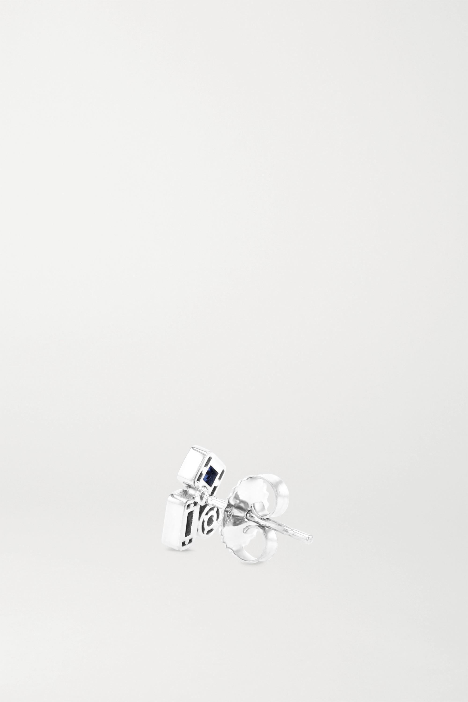 Suzanne Kalan Ohrringe aus 18 Karat Weißgold mit Saphiren und Diamanten