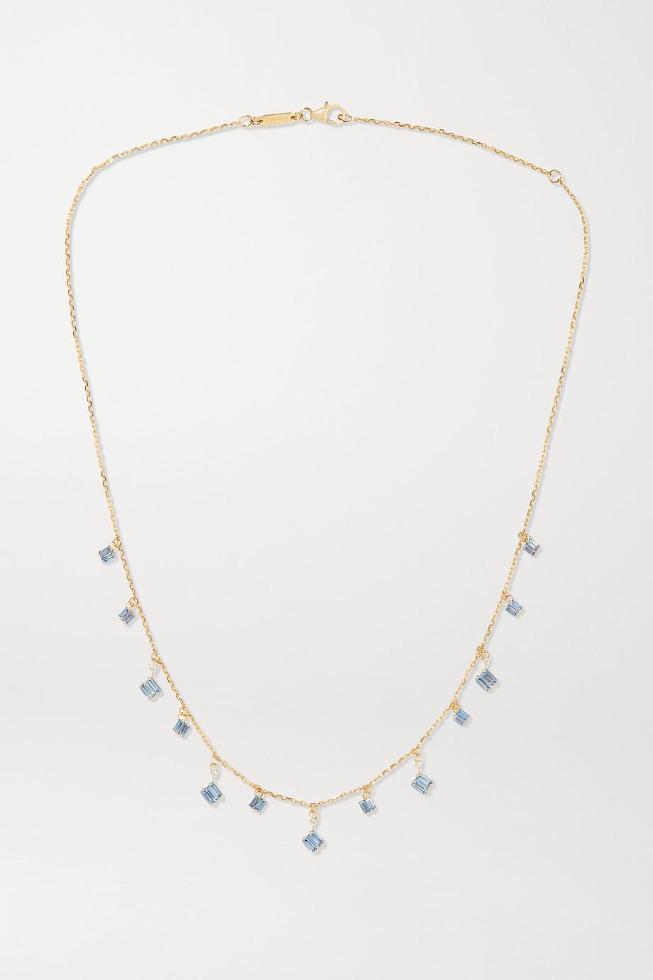 Suzanne Kalan 18-karat gold, sapphire and diamond necklace