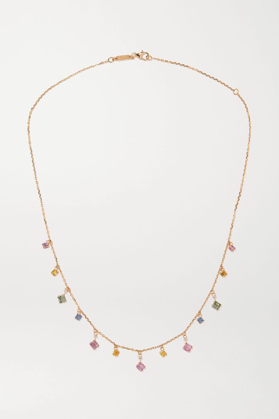 Suzanne Kalan Kette aus 18 Karat Gold mit Saphiren und Diamanten