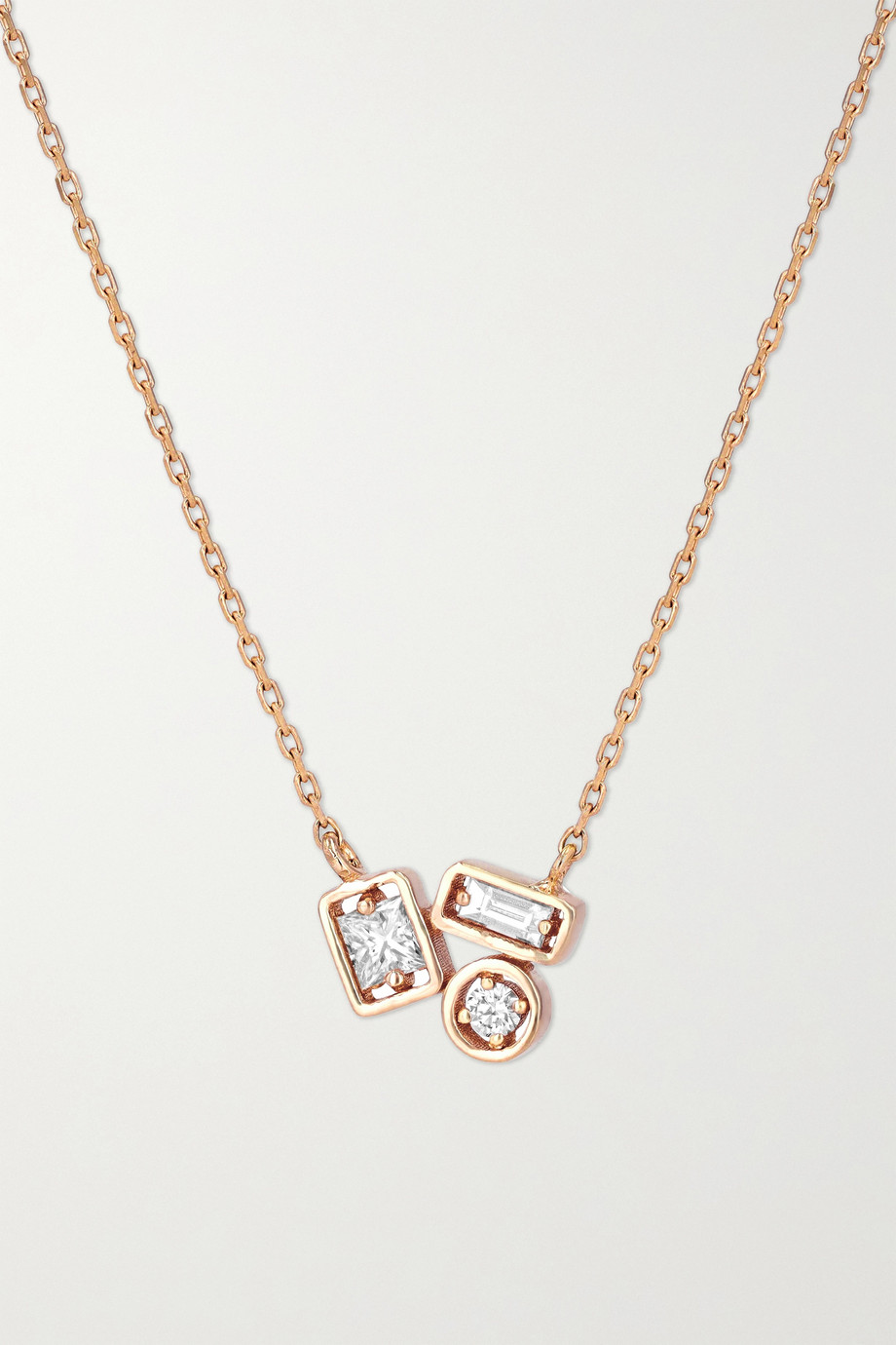 Suzanne Kalan 18K 玫瑰金钻石项链