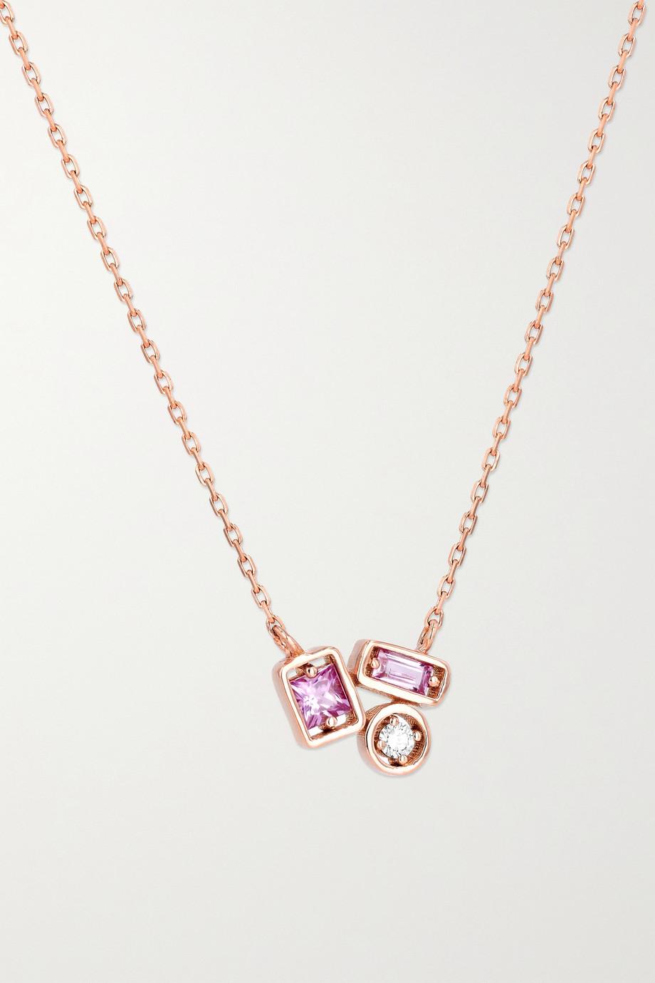 Suzanne Kalan Kette aus 18Karat Roségold mit Saphiren und Diamant