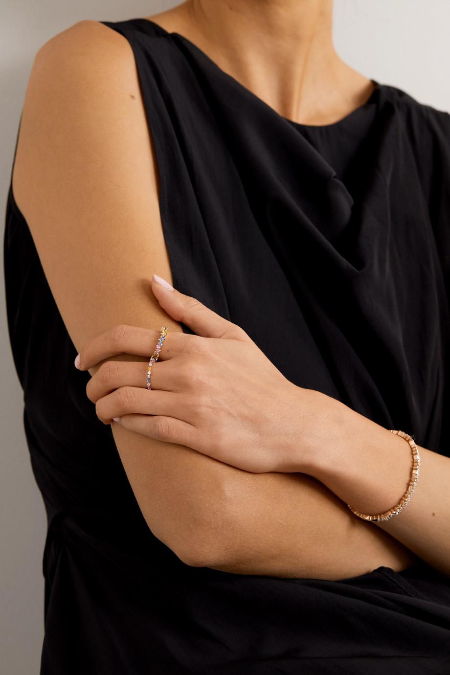 Suzanne Kalan Ring aus 18 Karat Gold mit Saphiren
