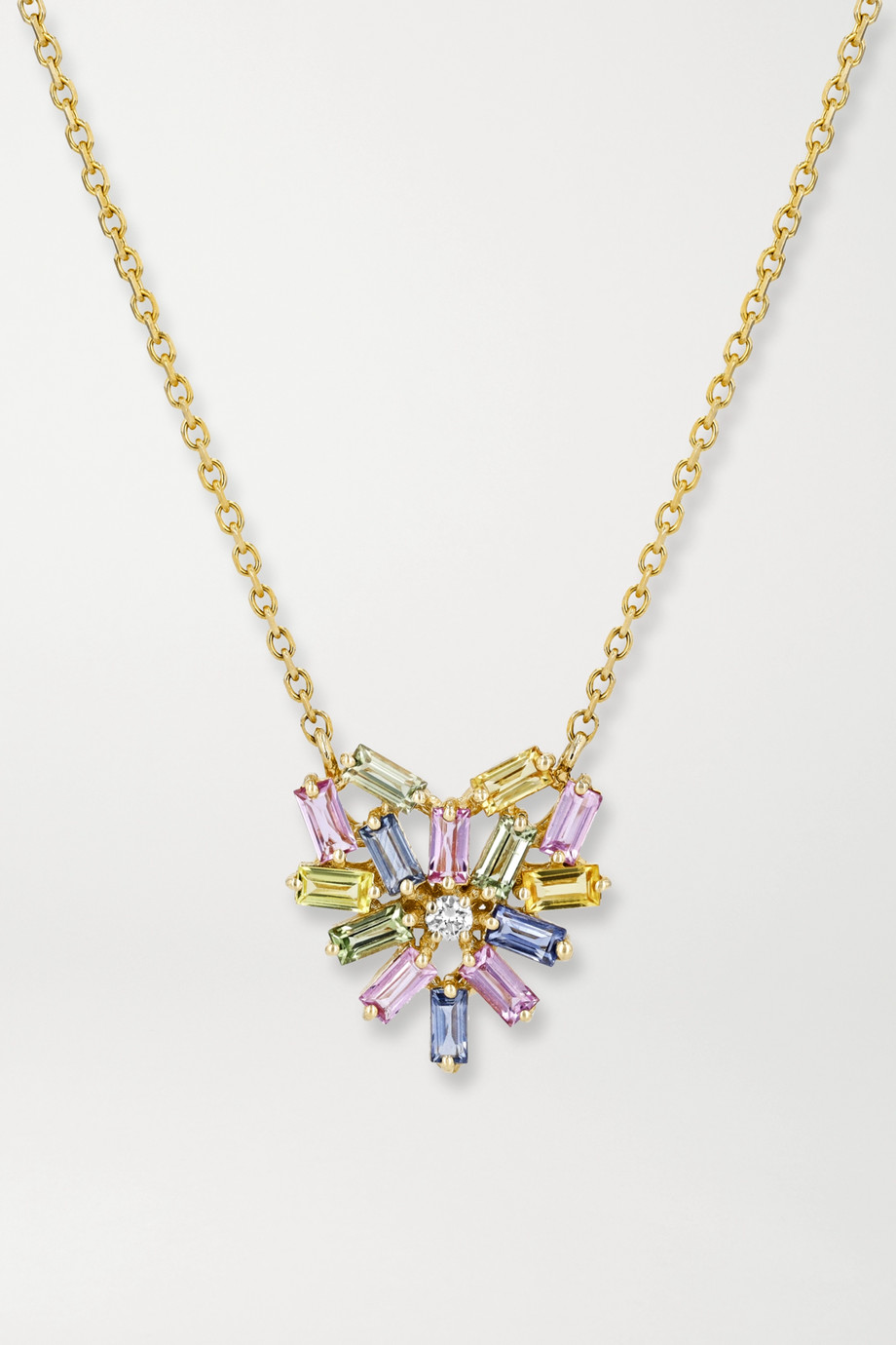 Suzanne Kalan 18-karat gold, sapphire and diamond necklace