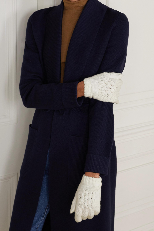 Johnstons of Elgin + NET SUSTAIN cashmere gloves