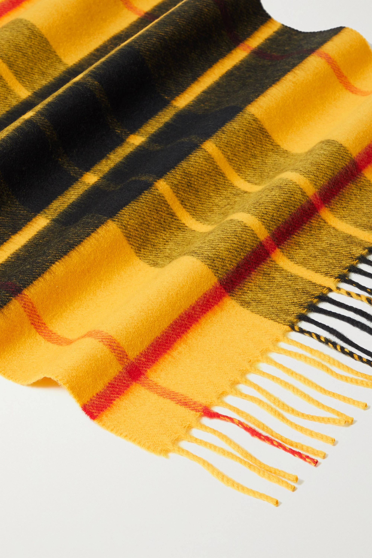 Johnstons of Elgin Écharpe en laine mérinos à carreaux et à franges - NET SUSTAIN