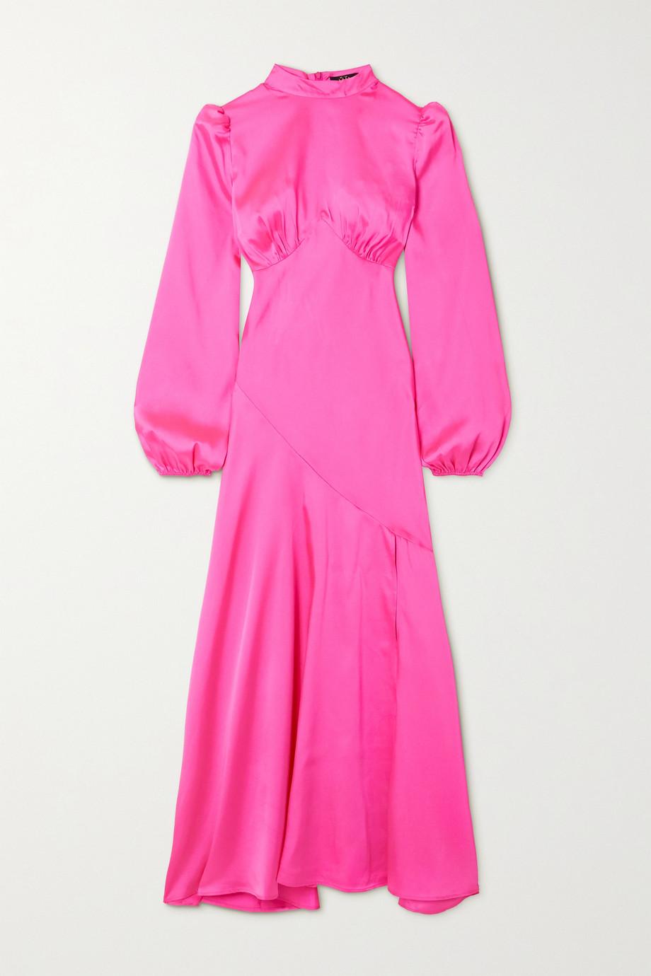 De La Vali Clara paneled satin dress
