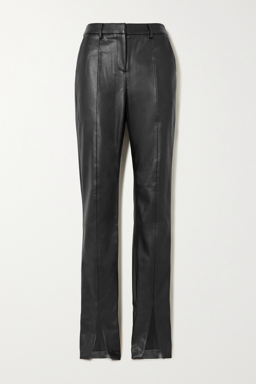 De La Vali The Blues vegan leather straight-leg pants