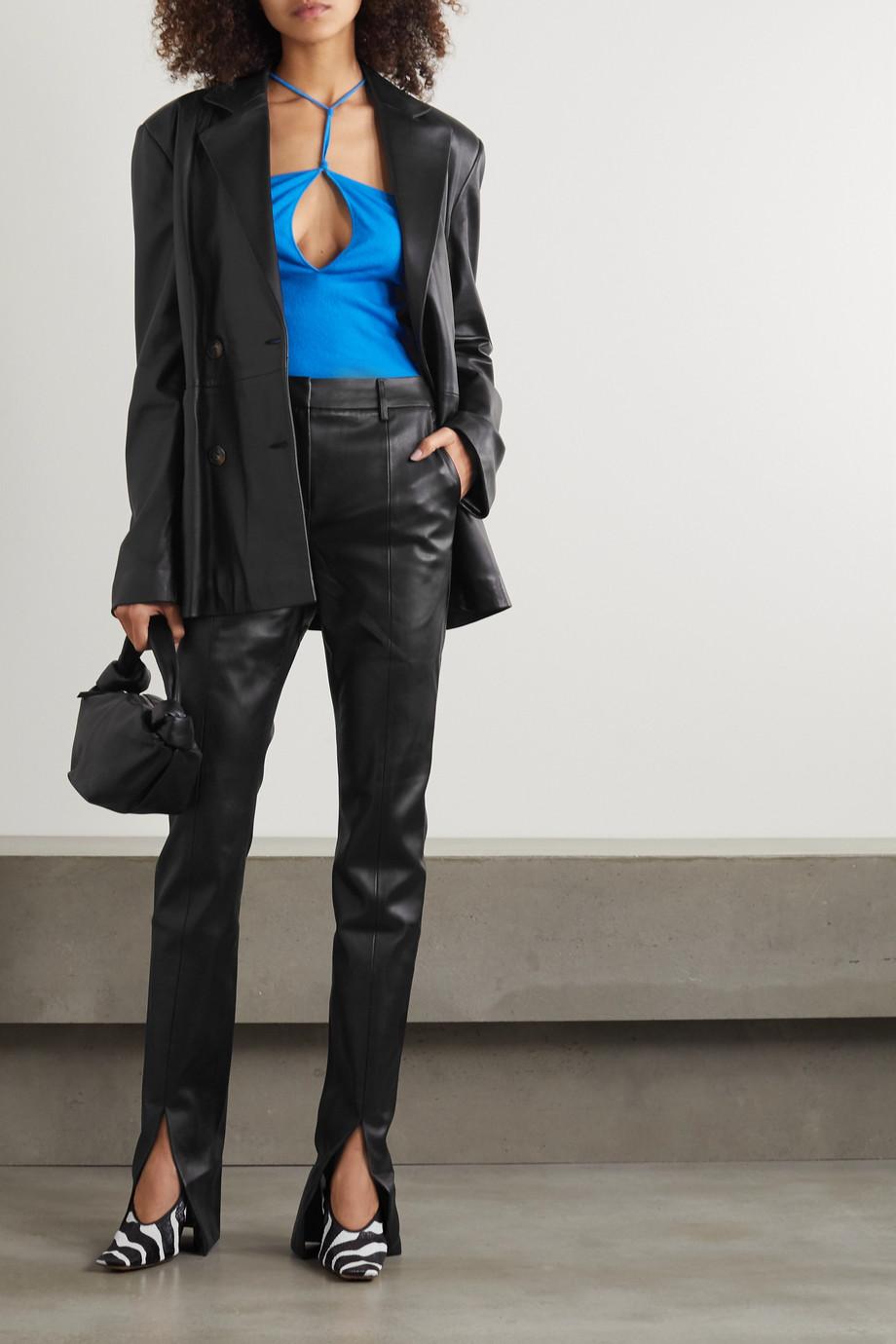 De La Vali The Blues Hose mit geradem Bein aus Kunstleder