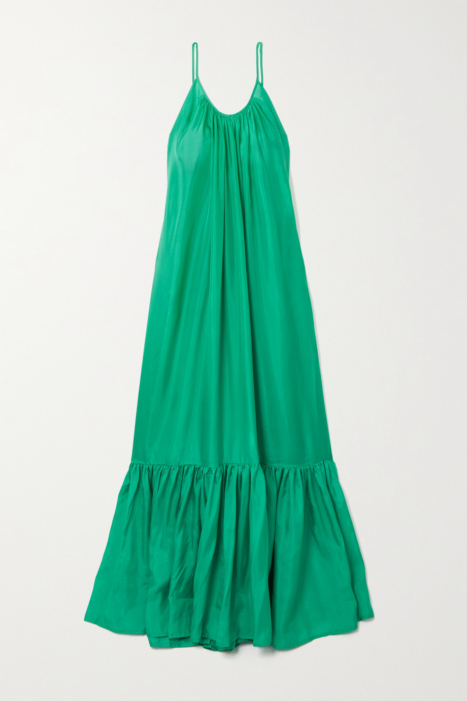 Kalita Brigitte tiered silk-habotai maxi dress