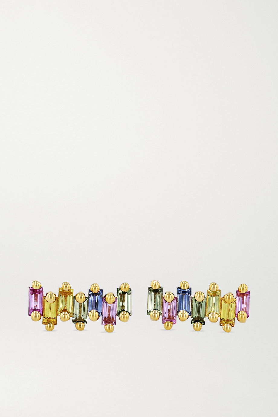 Suzanne Kalan 18-karat gold sapphire earrings