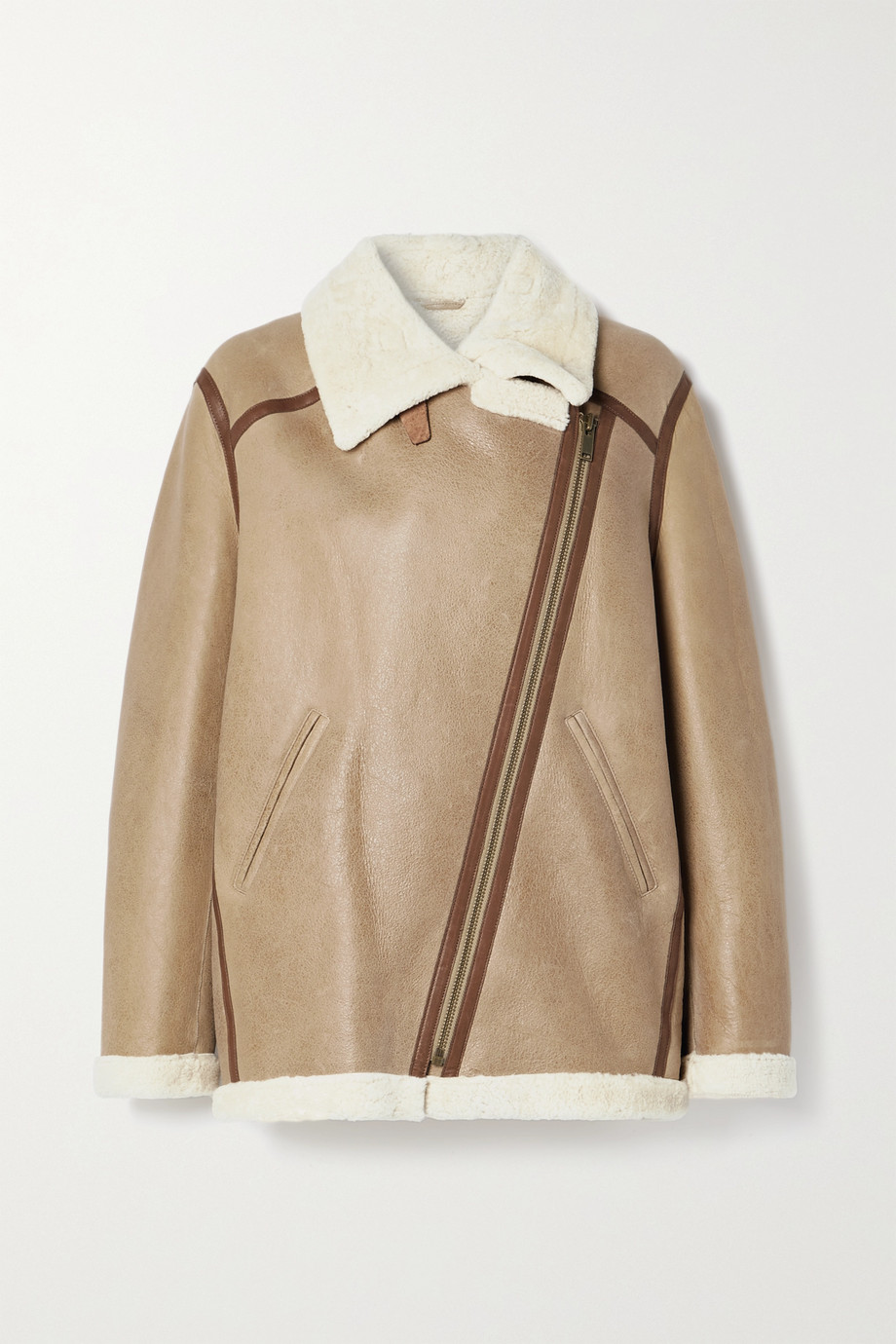 Isabel Marant Étoile Azare leather-trimmed shearling jacket