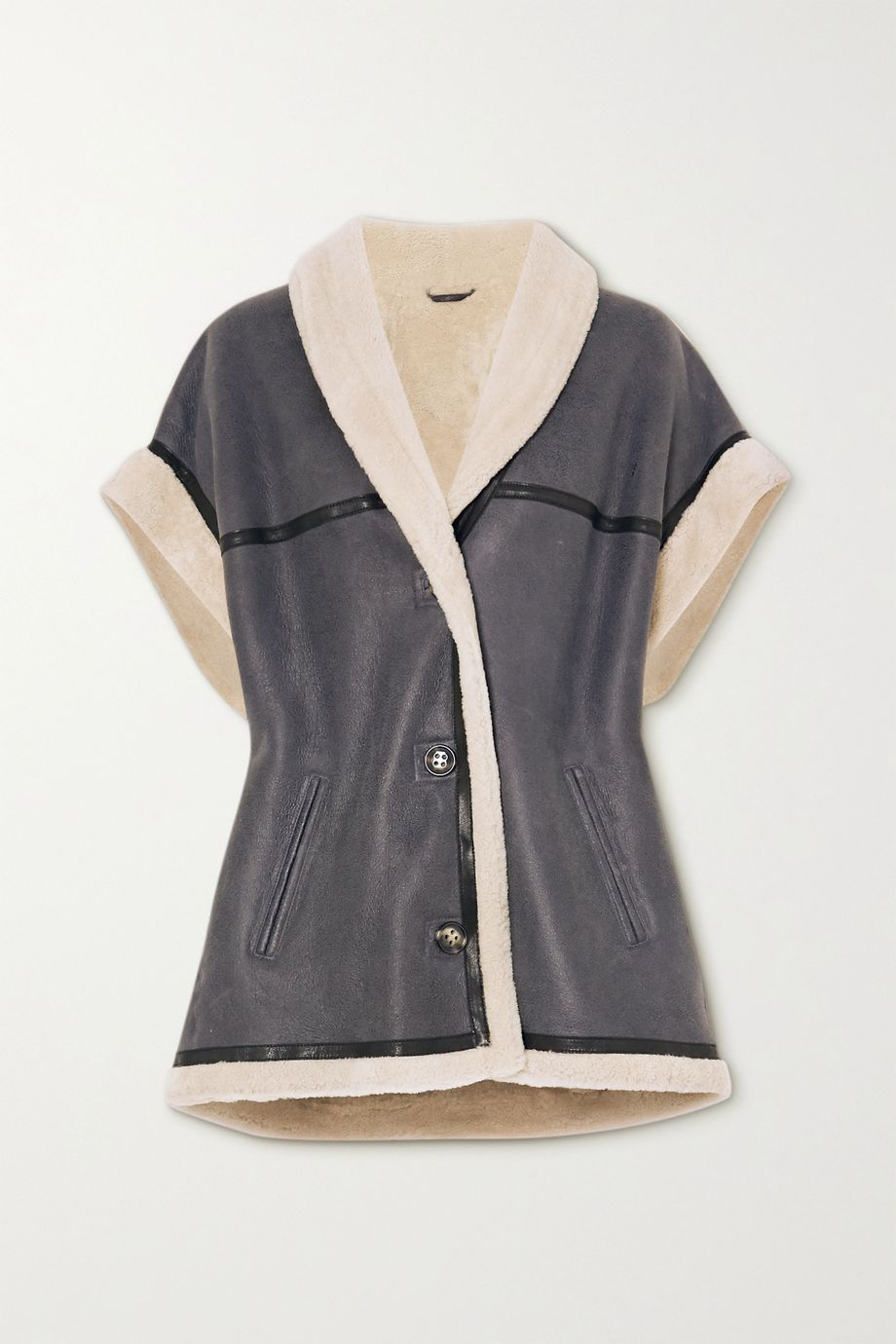 Isabel Marant Étoile Adelia shearling-trimmed leather jacket