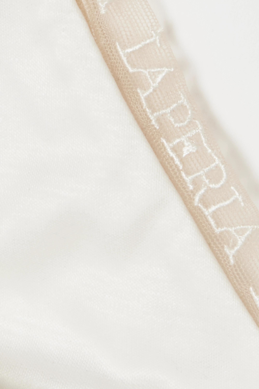 La Perla Imagine embroidered tulle-trimmed modal soft-cup triangle bra