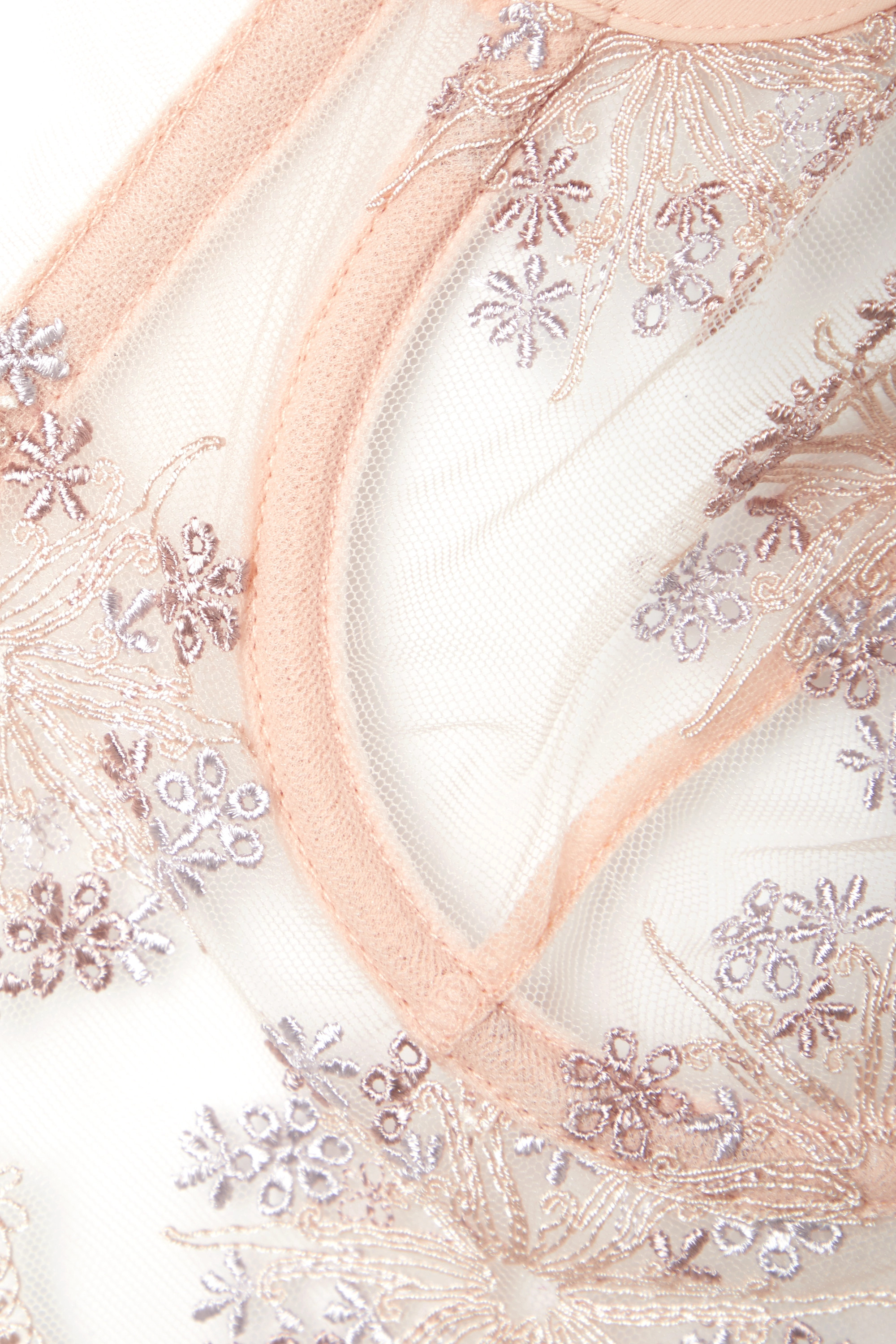 La Perla Flower Explosion embroidered stretch-tulle underwired soft-cup bra