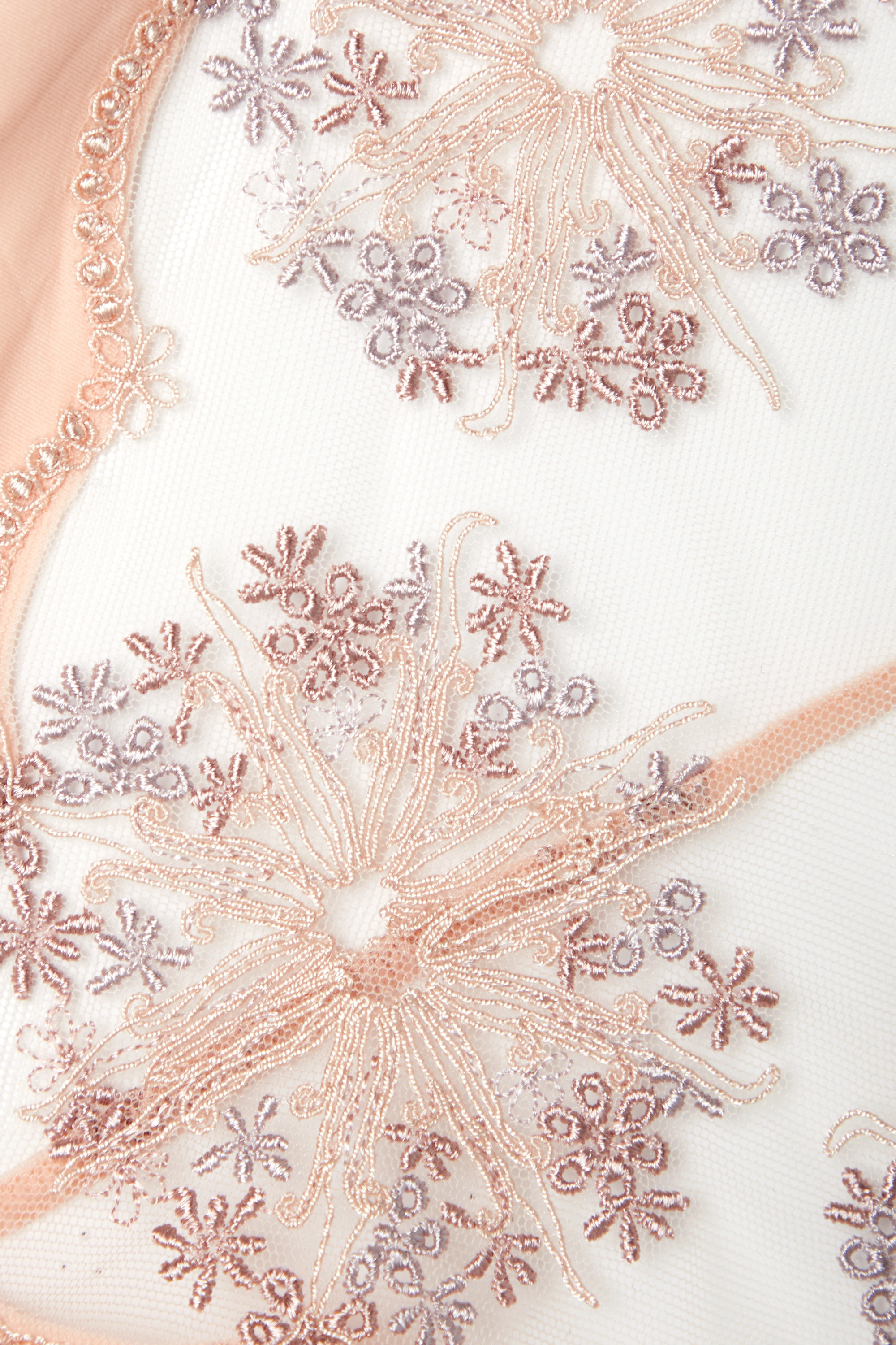La Perla Flower Explosion embroidered tulle and stretch-jersey briefs