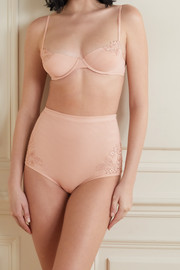 La Perla Maison Contouring embroidered stretch-tulle underwired soft-cup bra